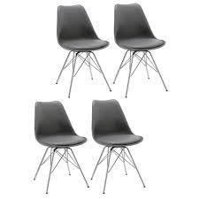 Duhome 4er Set Esszimmerstuhl In Grau Stuhl Vintage Design Retro