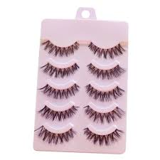 LEARNEVER <b>5pairs</b> Hand-made False Eyelashes Man-made Fiber ...