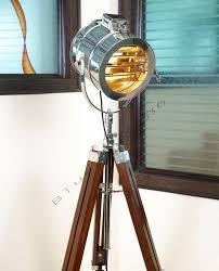 Vintage Retro Theatre Spot Light Tripod Floor Lamp Vintage Marine Floor Lamp Nautical Spot Studio Tripod Floor