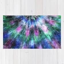 textured watercolor tie dye rug