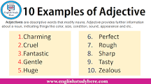 Image result for examples of adjectives describing nouns