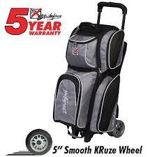 KR Strikeforce Apex Triple Roller Silver Bowling Bag