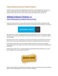Cheap Atlanta Falcons Tickets Online By Ticket Original Issuu