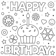 Color pictures of piñatas, birthday cakes, balloons it's my birthday, too! 55 Best Happy Birthday Coloring Pages Free Printable Pdfs