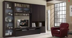 Trendy Living Room Trendy Living Room Wall Units In Black Style Also Glass Display