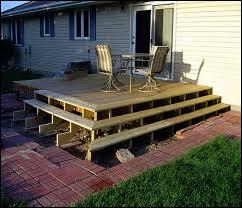 building a deck on uneven ground home design ideas