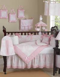 Sweet Jojo Designs Cheetah Girl Collection Pink French Toile And Gingham Baby Bedding 9 Piece Girls