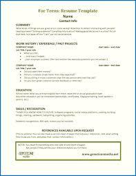 Resume For Teens New Teen Resume Template Excellent Sample Teen Resume Templates Teenage