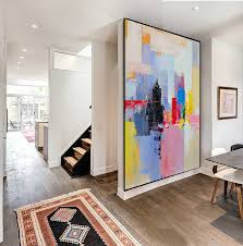 handmade extra large contemporary painting huge abstract canvas art inside work decor 4 extra large wall