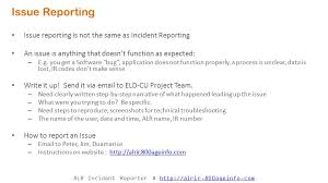 User Kickoff Meeting Alr Incident Reporting Automation Pilot Ppt