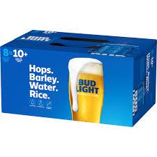 16 Ounce Bud Light Bud Light Beer 8 Pack Beer 16 Fl Oz Cans Walmart Com