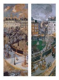 vasily kandinsky composition komposition  atilde137douard vuillard place vintimille 1908 10 distemper on paper mounted on