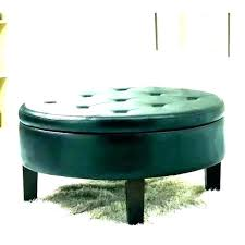 oval leather ottoman coffee table tray furniture magnificent shaped e tufted round