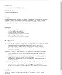 Resume Templates: Implementation Consultant