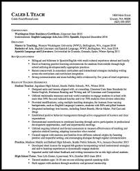 Letter Sample Resume For High School Teacher Curriculum