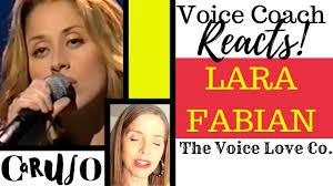 Voice Coach Reacts | Lara Fabian | Caruso - The Voice Love Company