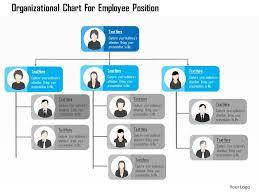 Organizational Chart For Employee Position Flat Powerpoint