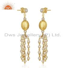 manufacturer of gold plated 92 5 sterling silver indian traditional chandelier earring supplier