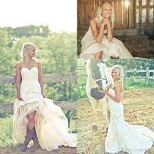 discount bride in cowgirl boots country wedding dresses 2016