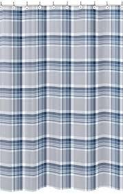 navy blue and gray shower curtain navy blue and grey plaid boys kids bathroom fabric bath navy blue and gray shower curtain