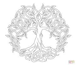 Small Picture Celtic Mandala Coloring Pages Celtic Tree of Life coloring page