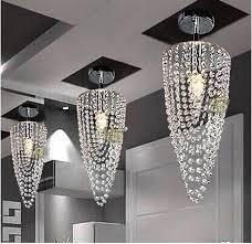 new modern mini crystal chandelier res de cristal living room lighting dia17 h45cm crystal corridor light ceiling fan chandelier foyer chandeliers from