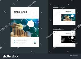Brochure Cover Pages Template Layout Annual Report Brochure Cover Stock Vector Royalty