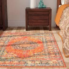 outstanding mistana pamela orange area rug reviews wayfair pertaining to orange area rugs popular
