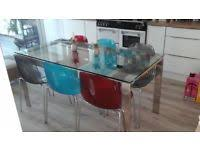 john lewis gl dining table 6 chairs