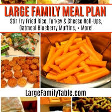 Family Meal Plans Meal Planning Archives Large Family Table