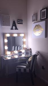 lighting for vanity makeup table. diy makeup vanity hollywood mirror with lights black silver white u0026 lighting for table n