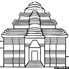 Small Picture Famous Places and Landmarks Coloring Pages Page 1