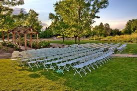 chairs arranged for an outdoor garden wedding denver wedding