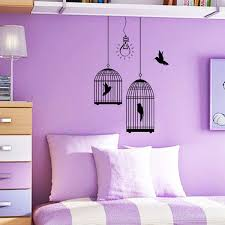 Purple Color Paint For Bedroom Apartment Bedroom Living Room Kids Interior Dark Neoteric Design
