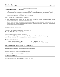 Firefighter Resume Template Free For You Fire Fighter Resume