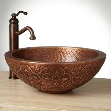 copper vessel sinks. Beautiful Vessel This Handpolished Sink Is Made Of Solid Copper And Features An Ingrained  Patina Crafted French Hot Process923066Signature Hardware Vessel Sinks 32895 In Copper Signature Hardware