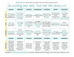 Free Weekly Meal Planner With Grocery List Free Printable Weekly Menu Planner Template Plus Accompanying