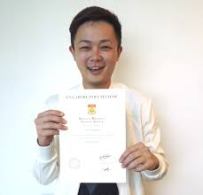 makeup artist and skin care guru larry yeo with his specialist diploma in cosmetic