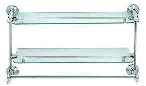 glass shelf with towel bar towel rack bathroom shelf with towel bar brushed nickel