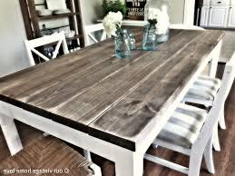 attractive rustic dining table diy 5 farmhouse plans distressed farm designs homemade to kitchen at room