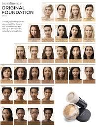 Bare Minerals Foundation Shades Chart Bare Minerals Shade Chart Beauty School Tryout Mineral