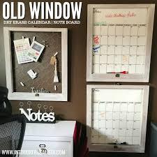repurposed vintage window wall