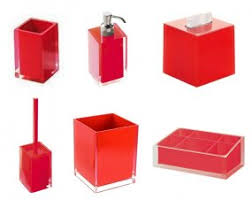 Black And Red Bathroom Accessories View In Gallery Pops Of Red The