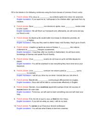 French Verb Chart Faire How To Conjugate French Verbs Into Future Tense 2 Steps