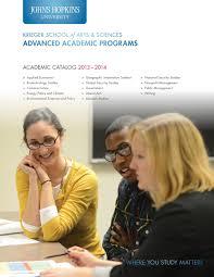 2013 14 Academic Catalog Advanced Academic Programs By Johns