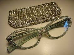 <b>Vintage</b> 1950's Encrusted Rhinestone Glasses <b>Cat's</b> Eye Frame with ...