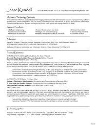 Graduate School Resume Template Microsoft Word