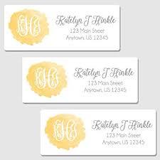 Monogram Return Address Labels Amazon Com Oh Baby Stickers More 60 Personalized Yellow Monogram