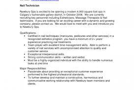 Glamorous Nail Tech Resume Sample 25 On Resume Sample with Nail Tech Resume  Sample