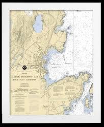 Custom Framed Nautical Charts
